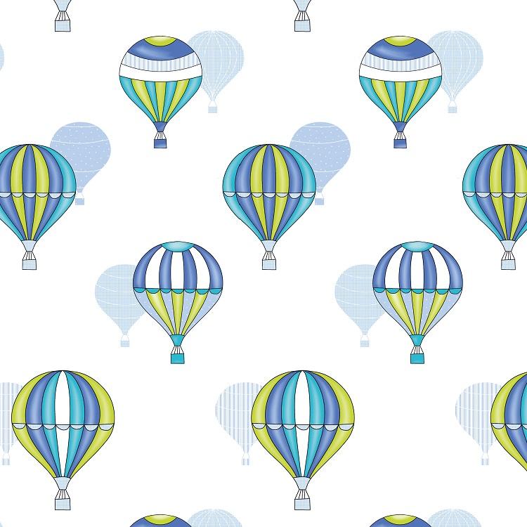 Colcha boutie infantil Balloon 2P de Reig Marti Azul 105
