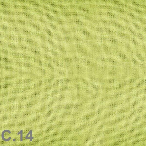 Metraje visillo liso color Belocolor Reig Marti Verde Manzana Tela Alto 300
