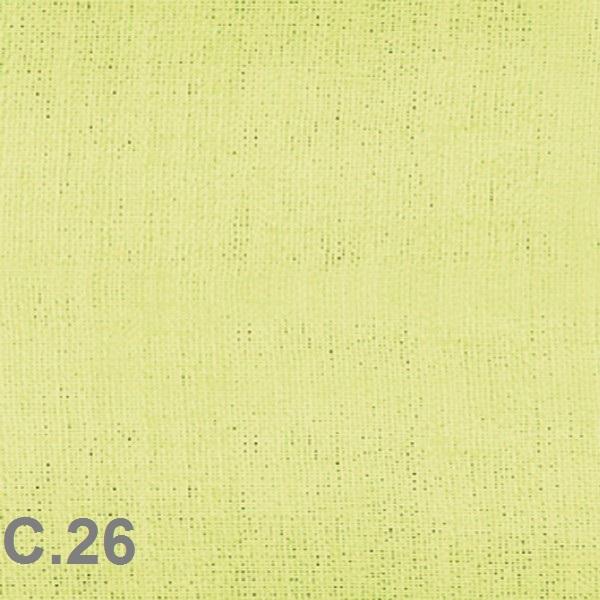 Metraje visillo liso color Belocolor Reig Marti Pistacho Tela Alto 300