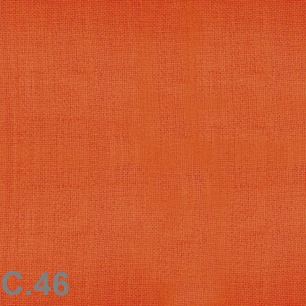 Metraje visillo liso color Belocolor Reig Marti Naranja Tela Alto 300