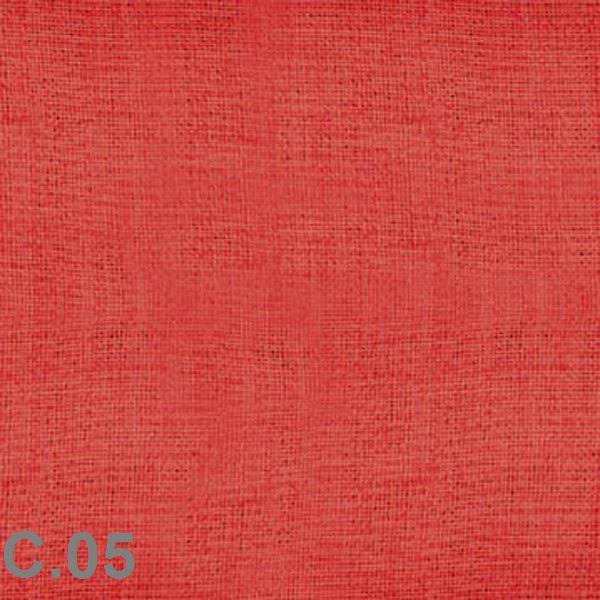 Metraje visillo liso color Belocolor Reig Marti Rojo Tela Alto 300