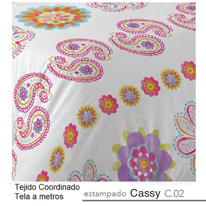 Tejido Juvennil CASSY MT Multicolor de Reig Marti. chicle Tela Alto 280