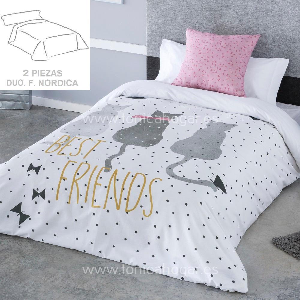 Duo Funda Nórdica CAT de SANSA Blanco Funda Nórdica 090 (150x220+50) Blanco Funda Nórdica 105 (180x220+50) Blanco Funda Nórdica 135-140 (220x220+50)