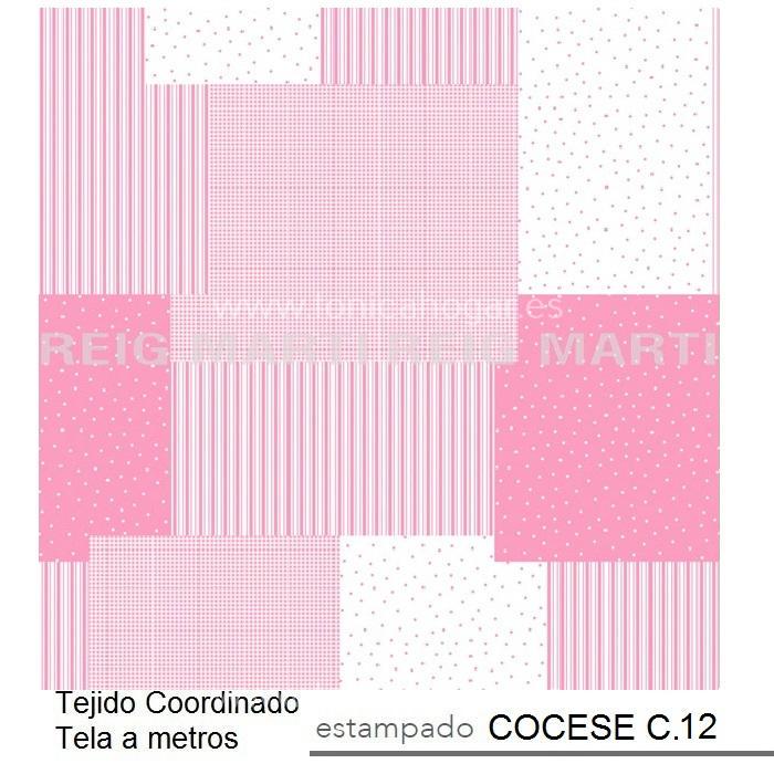 Tejido COCESE MT de Reig Marti Rosa Tela Alto 280