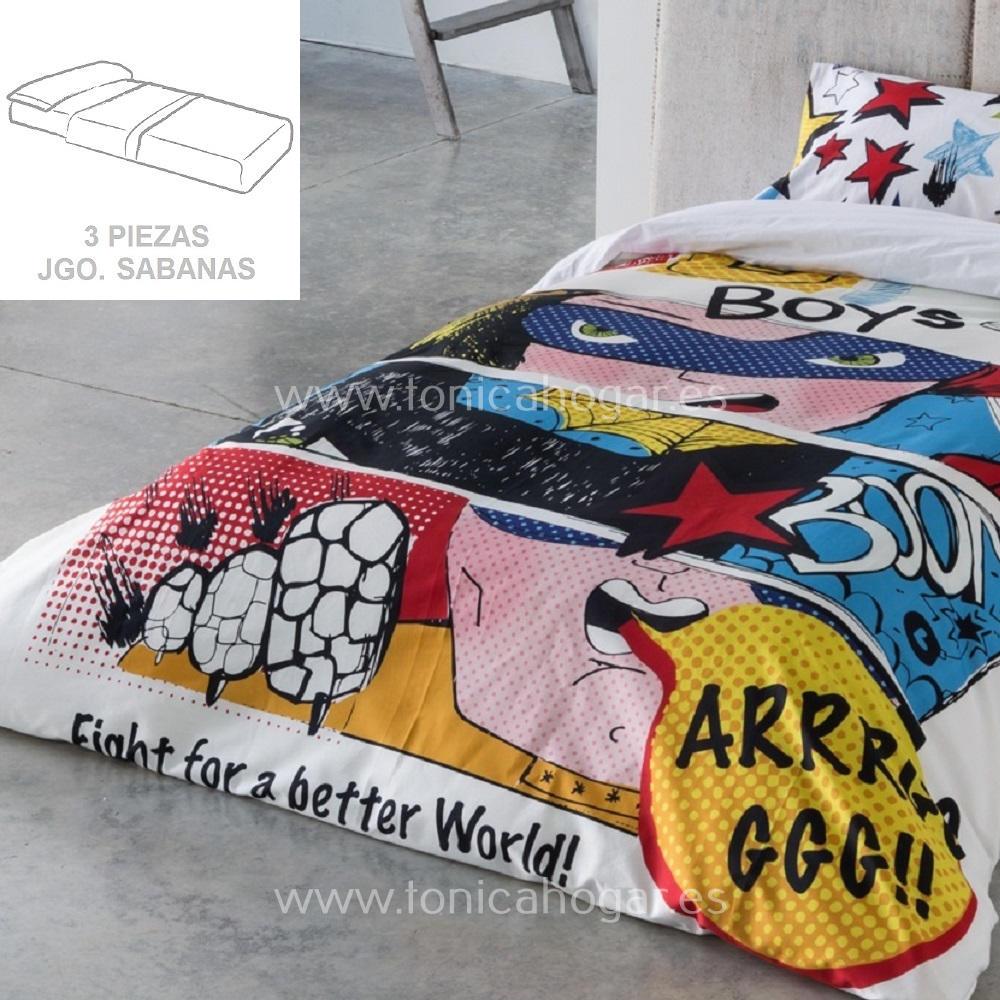 Juego Sabanas COMIC de SANSA Multicolor 090 Multicolor 105 Multicolor 135