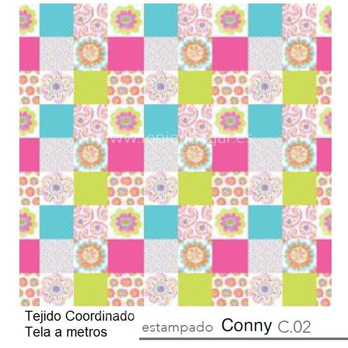 Tejido CONNY MT Multicolor de Reig Marti chicle Tela Alto 280