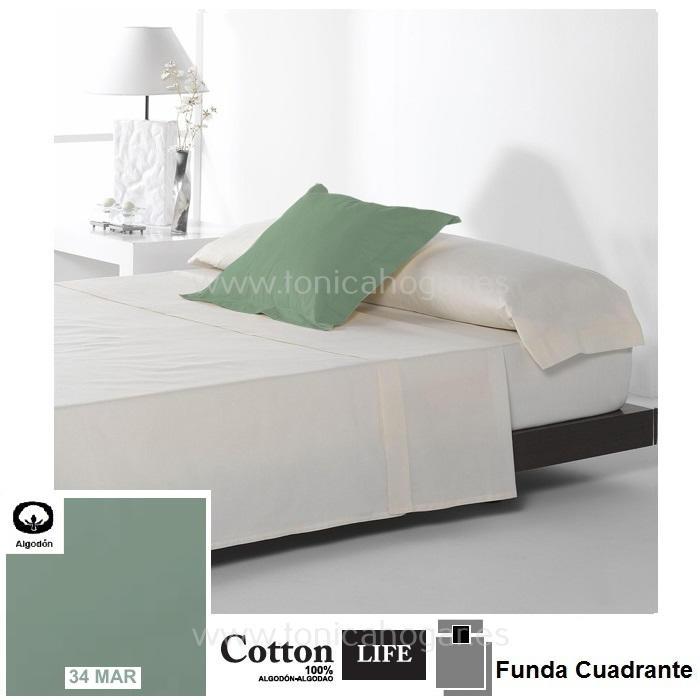 Fundas Almohadas y Cuadrantes Cottonlife Reig Marti Cotton Life 34 Mar Funda Cojín Pestaña 50x50+5