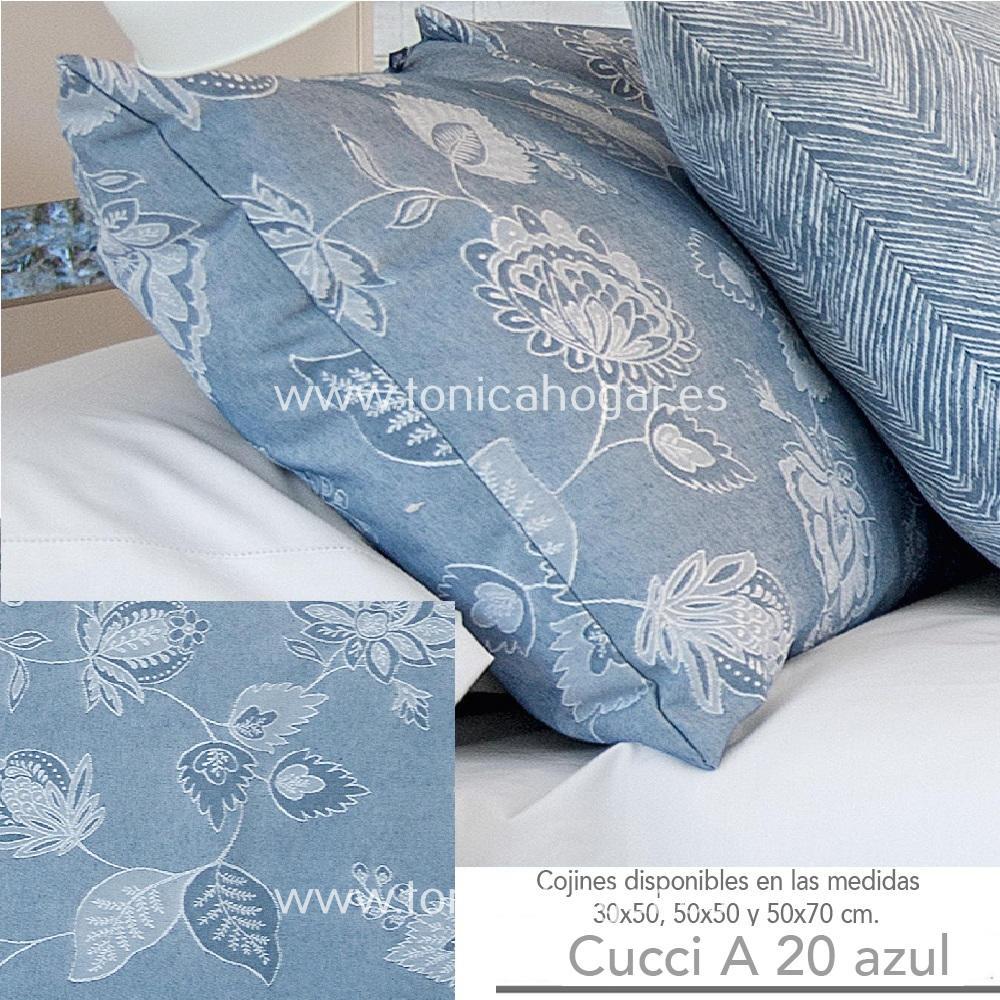 Cojín CUCCI A Azul de CAÑETE Celeste Cojín 30x50 Celeste Cojín 50x50 Celeste Cojín 50x70