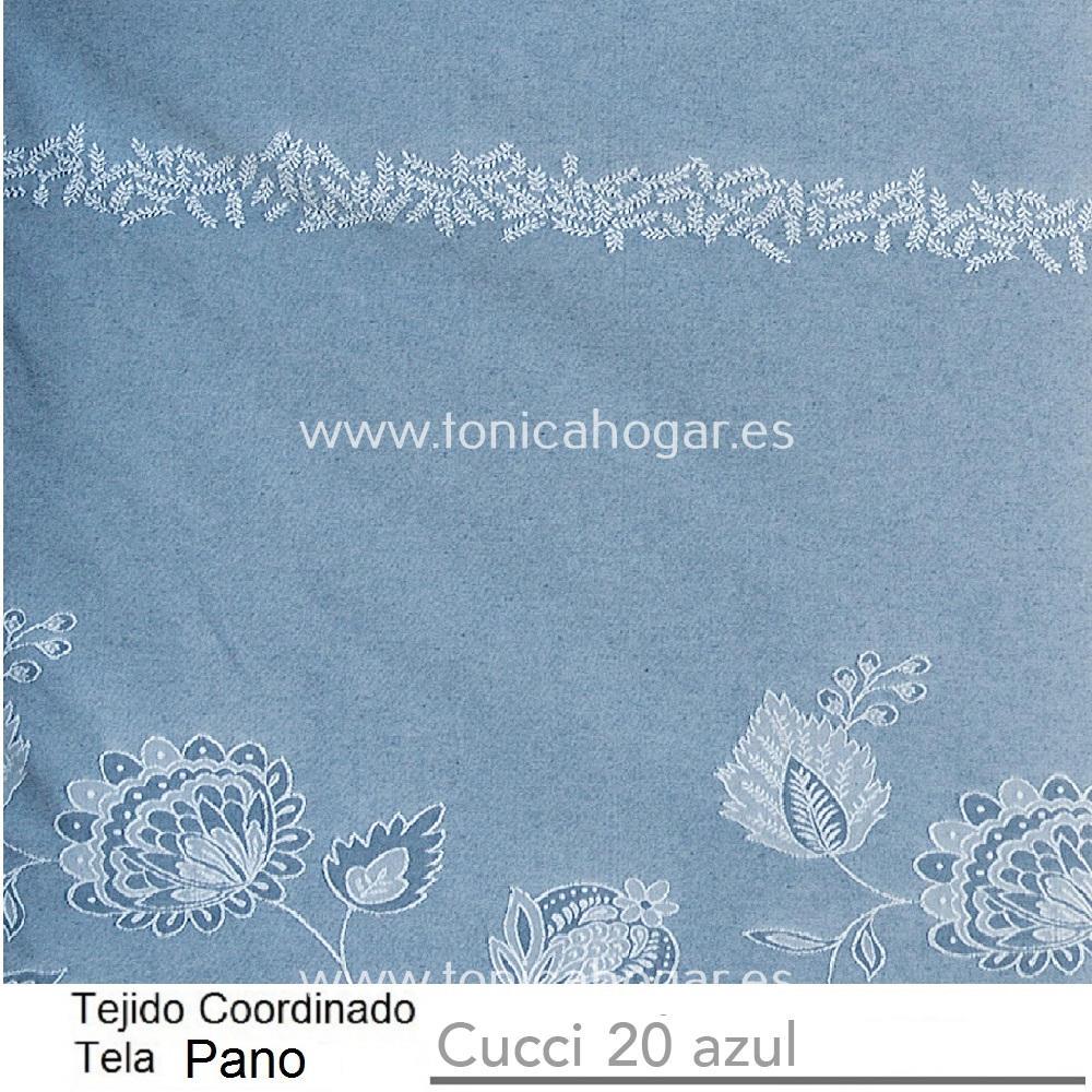 Tejido Pano Jacuard CUCCI PANO Azul de CAÑETE Celeste Tela 280x280