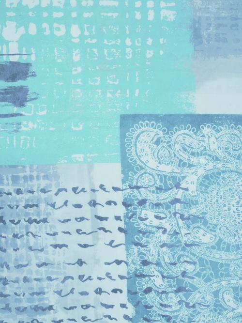 Bouti Collage 20 de JVR Azul Turquesa 135