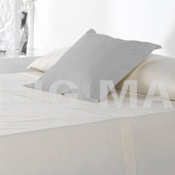 Fundas Almohadas y Cuadrantes Cottonlife Reig Marti Niebla Funda Cojín Pestaña 50x50+5