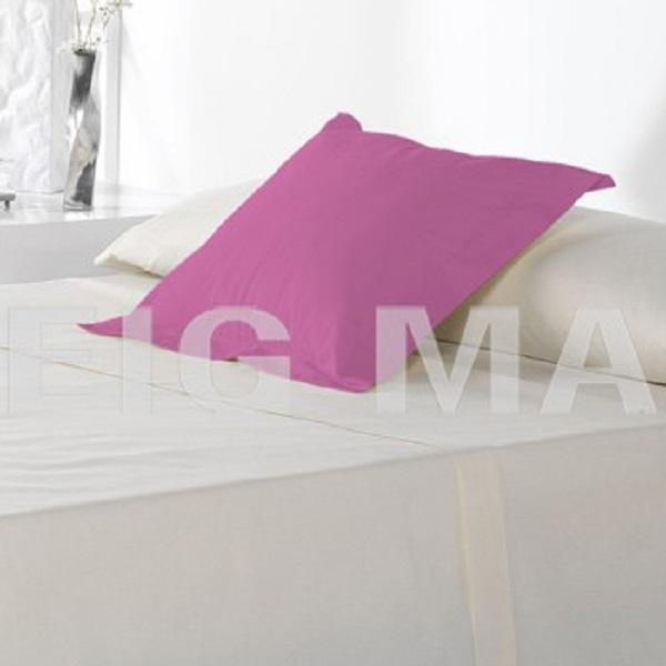 Fundas Almohadas y Cuadrantes Cottonlife Reig Marti Purpura Funda Cojín Pestaña 50x50+5