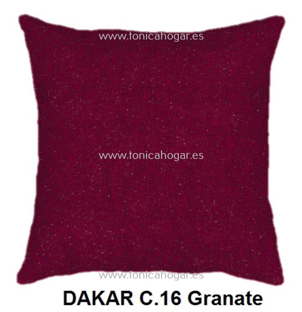 Cojín DAKAR de CAÑETE Granate Cojín 50x70