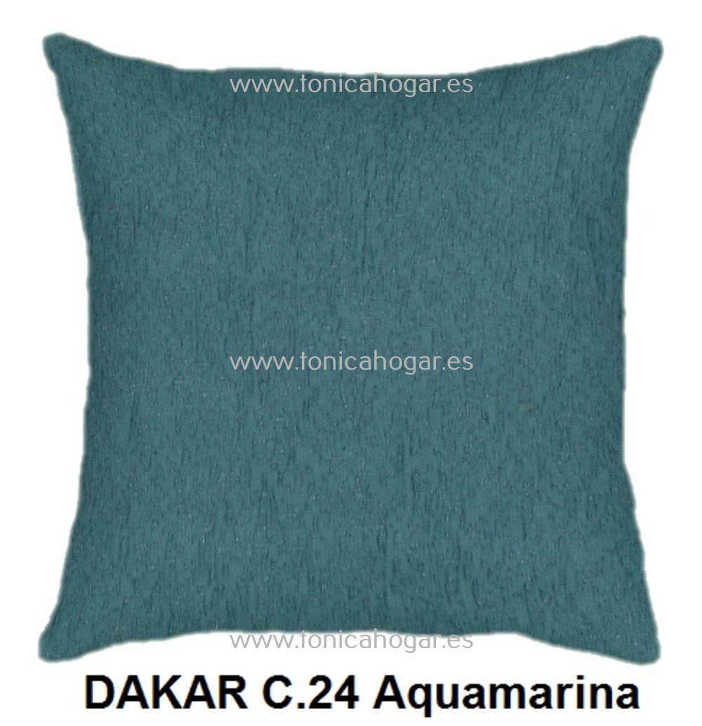 Cojín DAKAR de CAÑETE Aquamarina Cojín 50x70