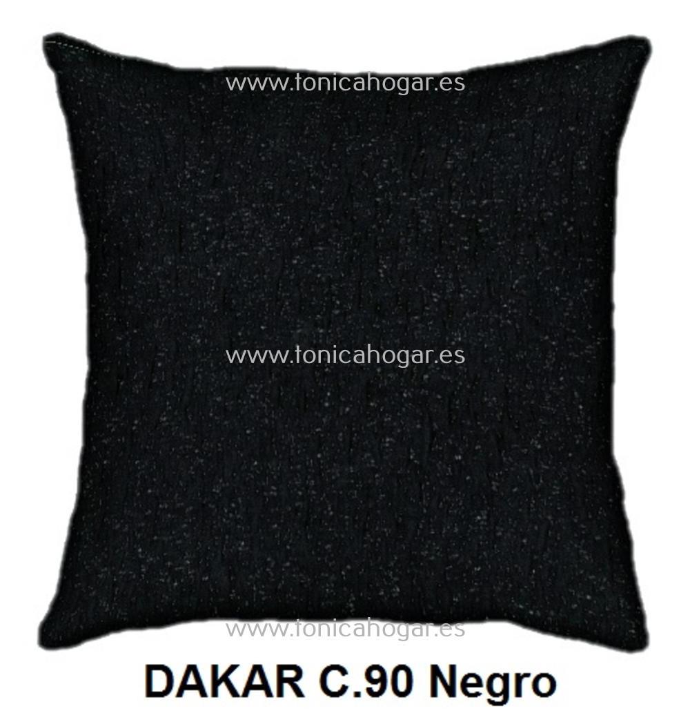Cojín DAKAR de CAÑETE Negro Cojín 50x70
