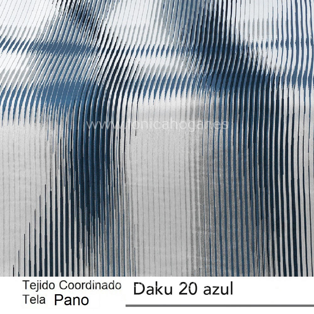 Tejido Pano Jacuard DAKU PANO Azul de CAÑETE Marino Tela 250x280