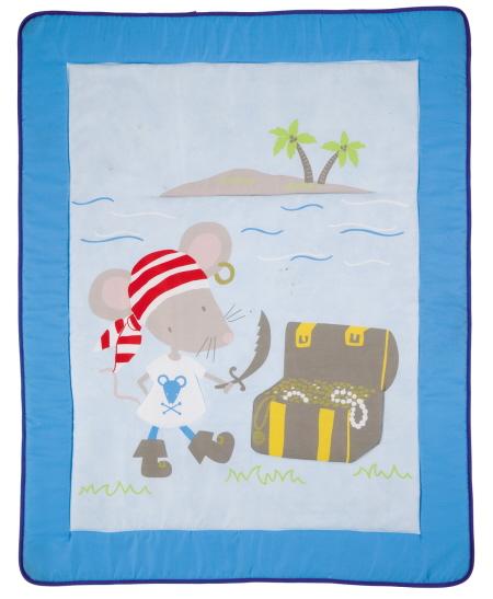 Alfombra Infantil DOBLON de Scenes. Azul Alfombra 110x138