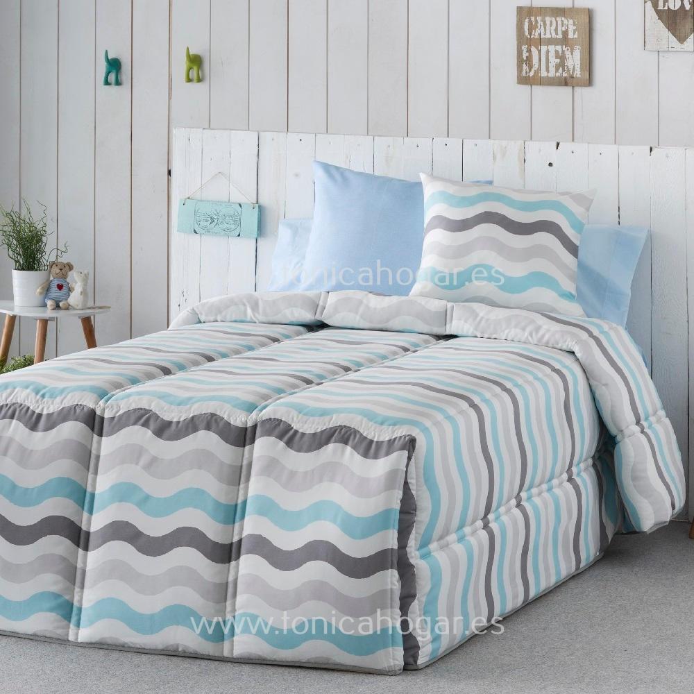 Edredón Conforter DUNAS Azul de SANSA Celeste 090 Celeste 105 Celeste 135 Celeste 150