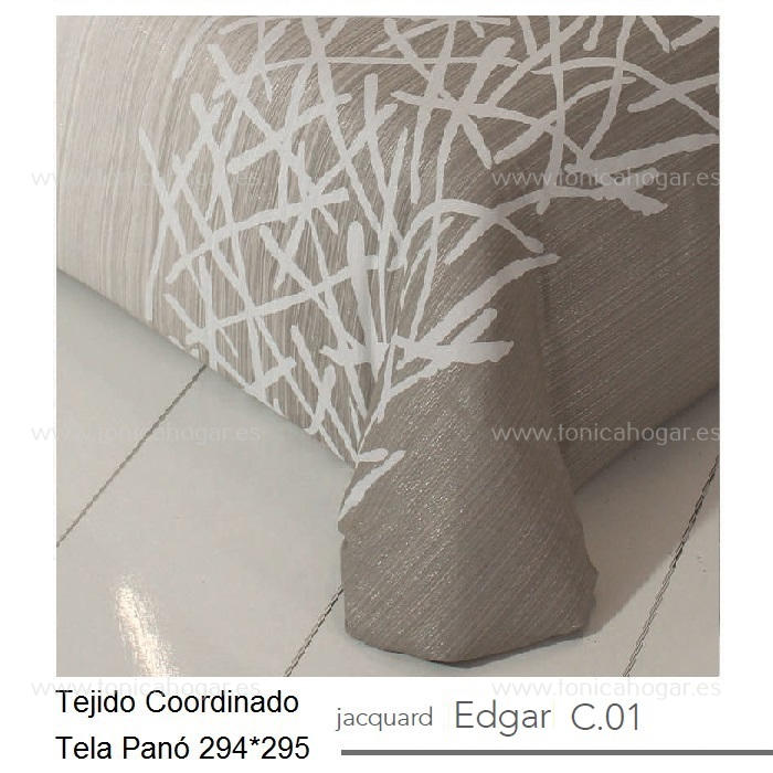 Tejido EDGAR PANEAUX MT Beig de Reig Marti Lino Tela 294x295