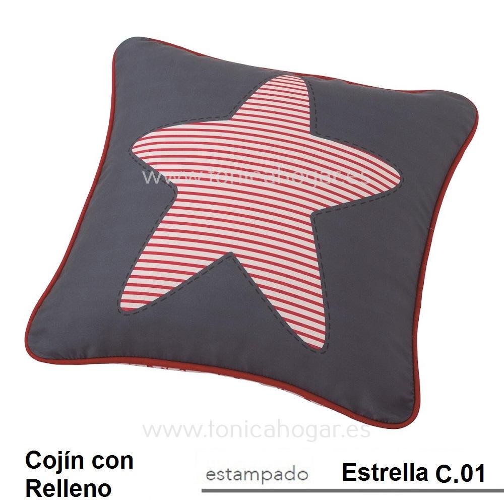 Cojín Infantil ESTRELLA de SCENES. Marino Cojín 45x45