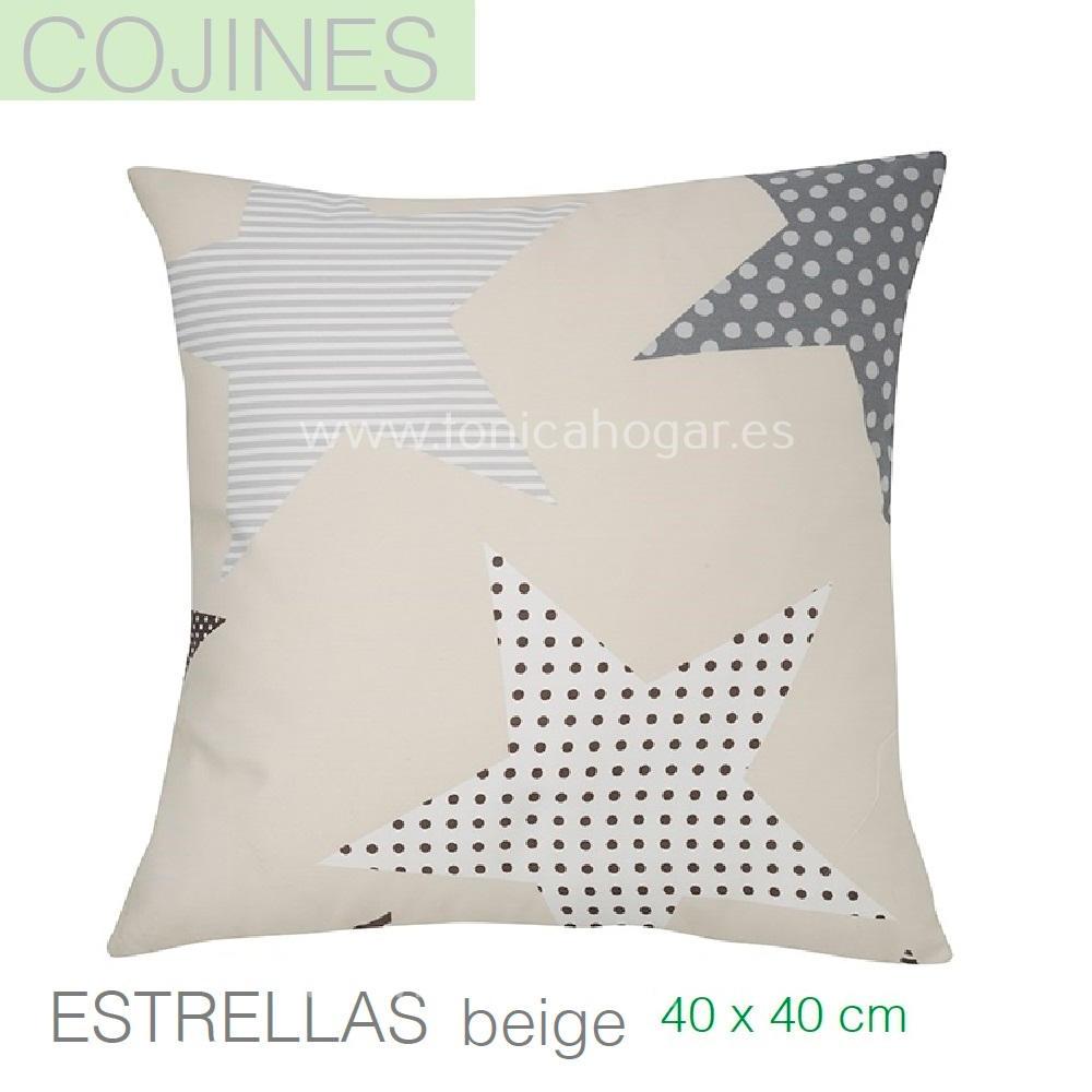 Funda Cojín ESTRELLAS Beige de SANSA Lino Funda Cojín 40x40