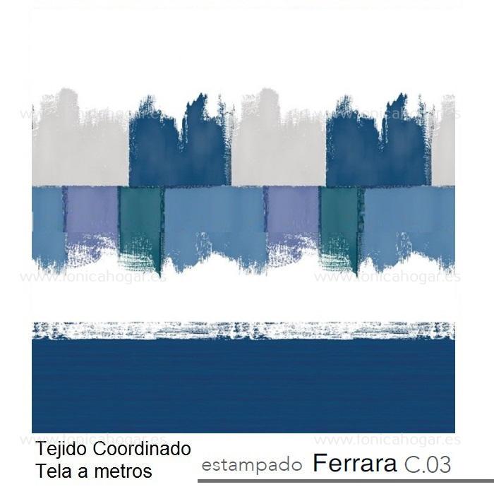 Tejido FERRARA MT de Reig Marti Azulón Tela Alto 280