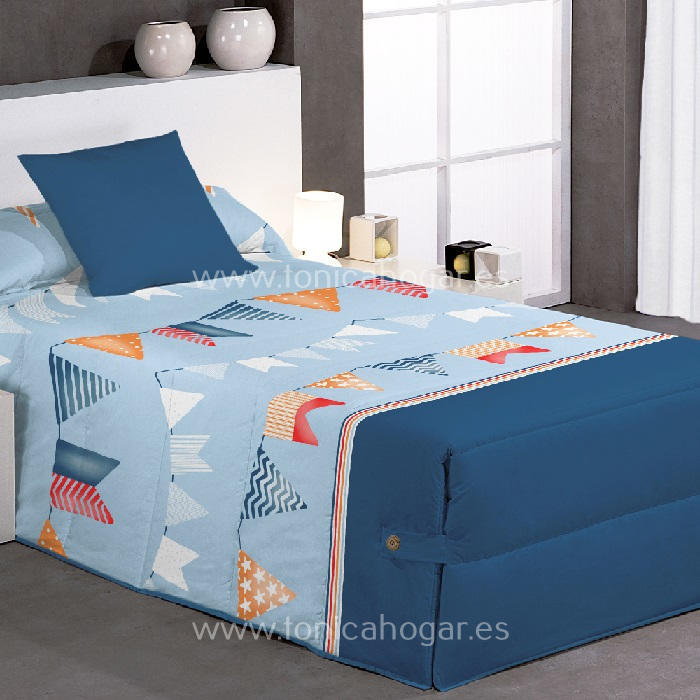 Edredón Conforter FLAG 02 Azul de Reig Marti Celeste 090 Celeste 105