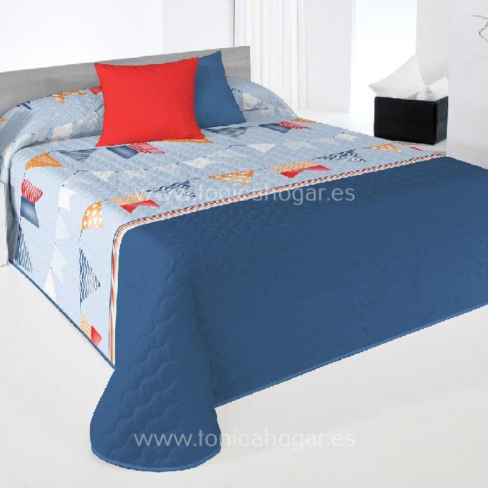 Colcha Boutie FLAG 2P Azul de Reig Marti Celeste 090 Celeste 105