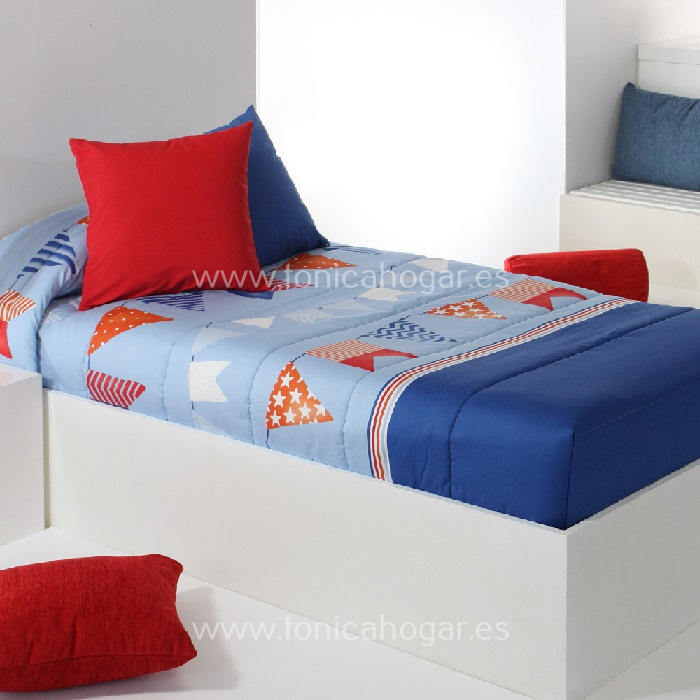 Edredón Ajustable FLAG AG Azul de Reig Marti Celeste 090