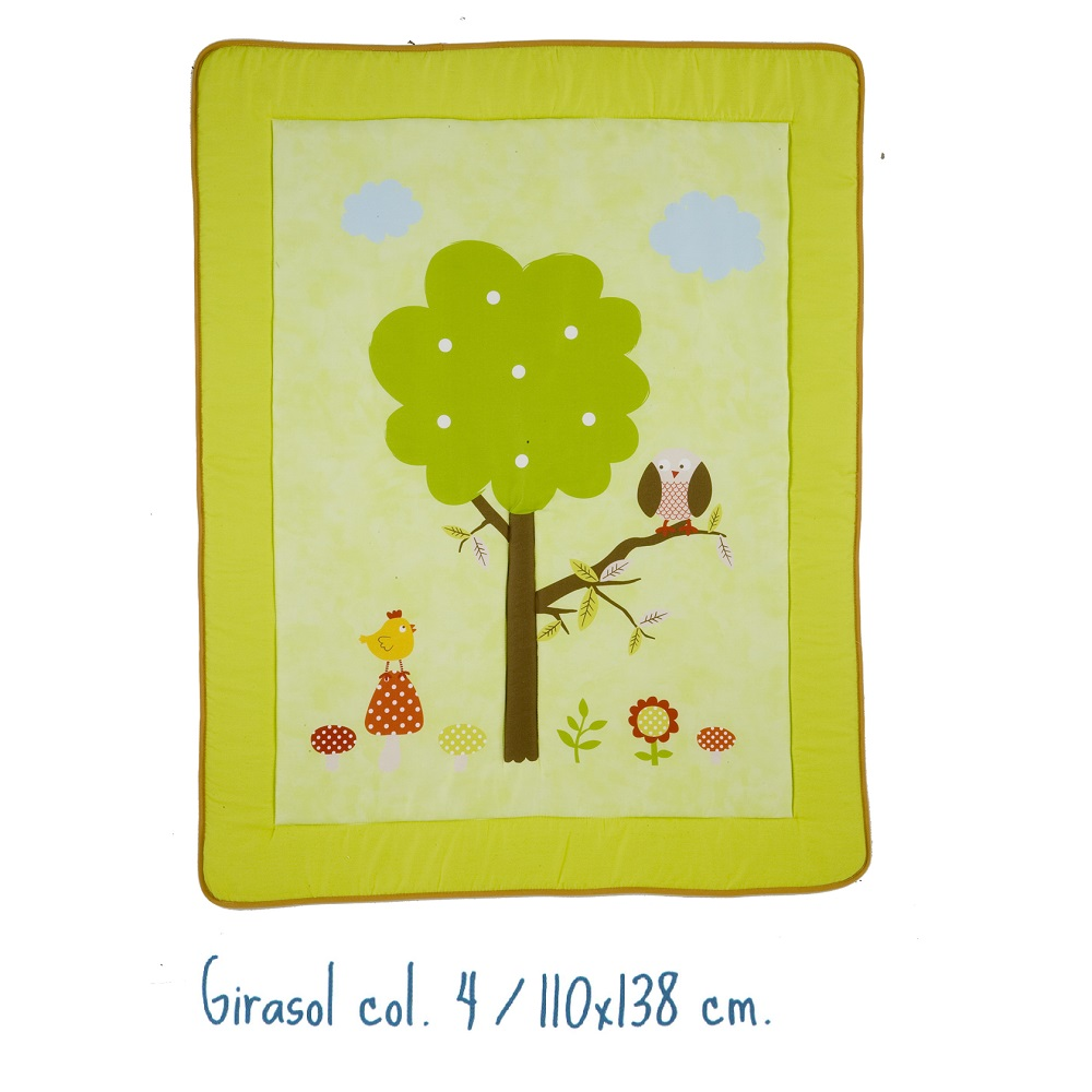 Alfombra Infantil GIRASOL de Scenes. Verde Alfombra 110x138