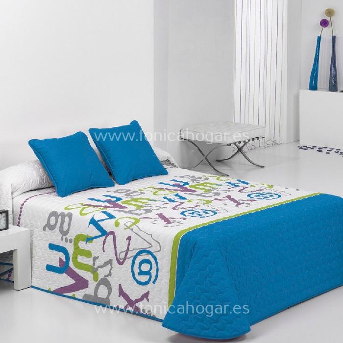 Colcha Boutie GRAFIC 2P Azul de Reig Marti. Azul 090 Azul 105