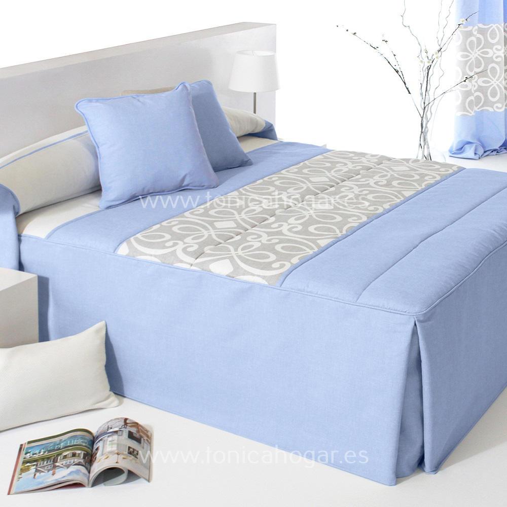 Colcha Edredón GRANDY 01 Azul de Reig Marti. Celeste 090 Celeste 105 Celeste 135 Celeste 150