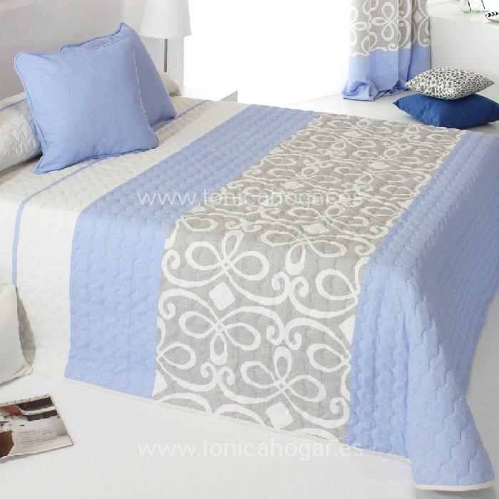 Colcha Boutie GRANDY 2P Azul de Reig Marti. Celeste 090 Celeste 105 Celeste 135 Celeste 150
