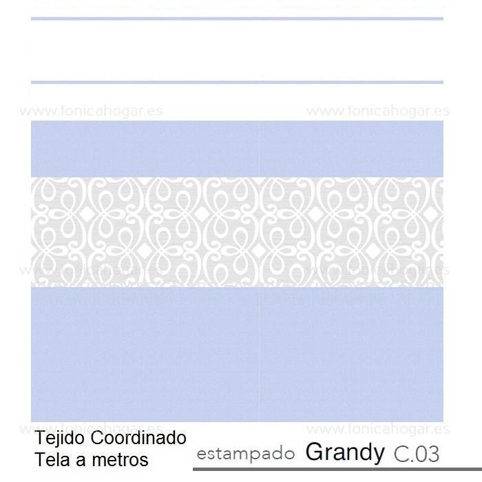 Tejido GRANDY MT Azul de Reig Marti. Celeste Tela Alto 280