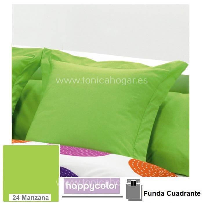 Funda Cojín HAPPYCOLOR Reig Marti Manzana Funda Cojín Pestaña 50x50+5