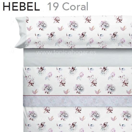 Juego Sabanas HEBEL Coral de CAÑETE Perla 080 090 Perla Perla 105 Perla 120 Perla 135 Perla 150 Perla 160 Perla 180 Perla 200
