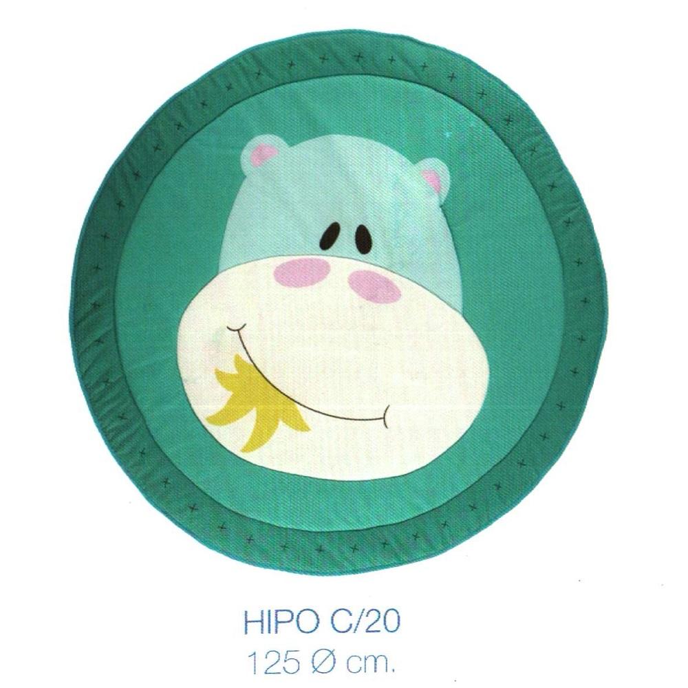 Alfombra Infantil HIPO de Scenes. Azul Alfombra 125 O