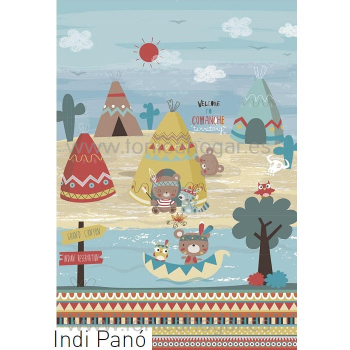 Tejido Panó INDI de JVR Multicolor Tela 210x280