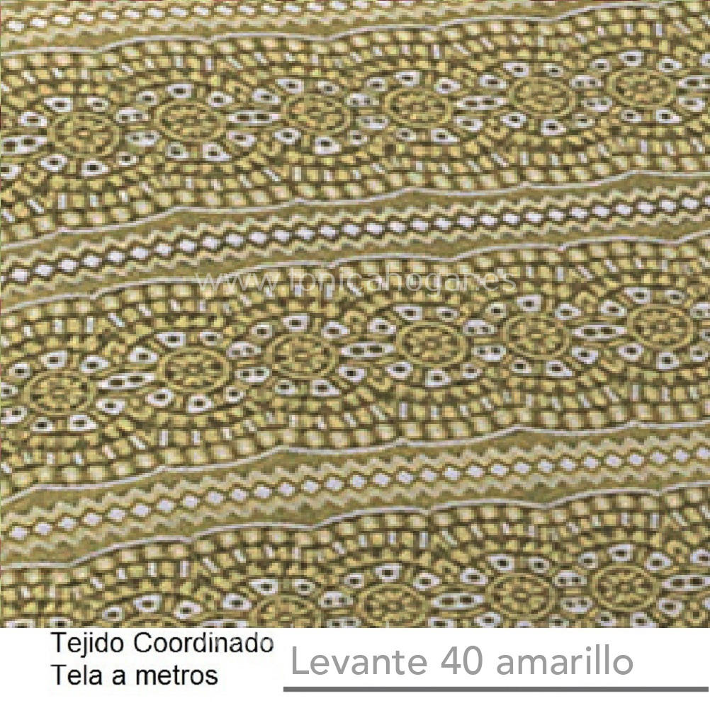 Tejido Jacuard LEVANTE A Amarillo de CAÑETE Aloe Tela Alto 280