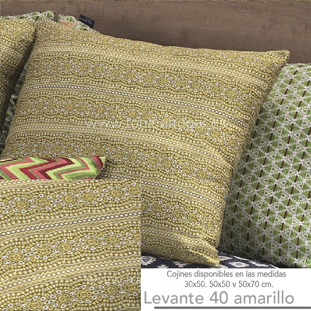 Cojín LEVANTE Amarillo de CAÑETE Aloe Cojín 30x50 Aloe Cojín 50x50 Aloe Cojín 50x70