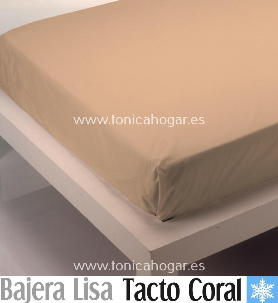 Sábana Bajera Tacto Coral LISA Beig de Cañete Beig 090 Beig 105 Beig 135 Beig 150 Beig 180