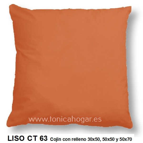 Cojín LISA de CAÑETE Naranja_Caqui Cojín 30x50 Cojín 50x50 Cojín 50x70