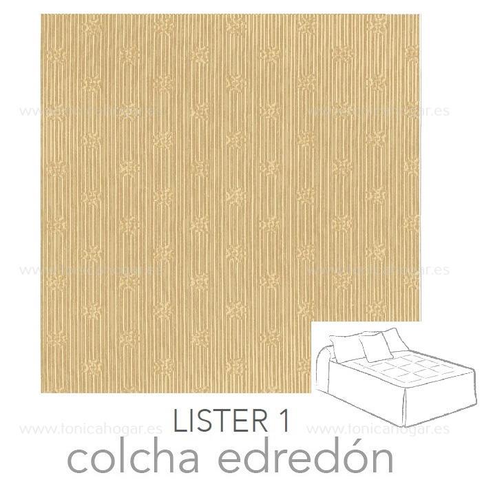 Colcha Edredón LISTER 01 de Reig Marti Tostado 090 Tostado 105 Tostado 135 Tostado 150