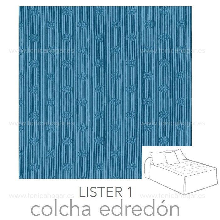 Colcha Edredón LISTER 01 de Reig Marti Azulón 090 Azulón 105 Azulón 135 Azulón 150