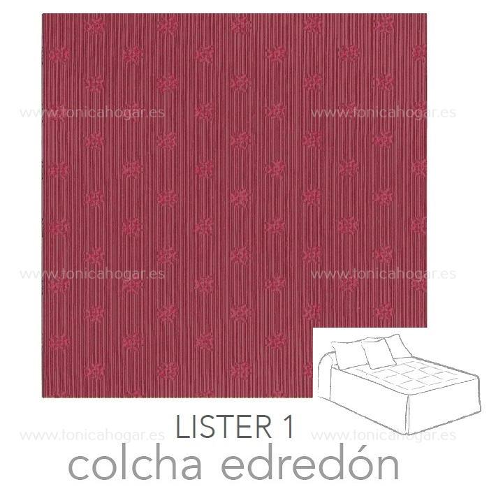 Colcha Edredón LISTER 01 de Reig Marti Granate 090 Granate 105 Granate 135 Granate 150