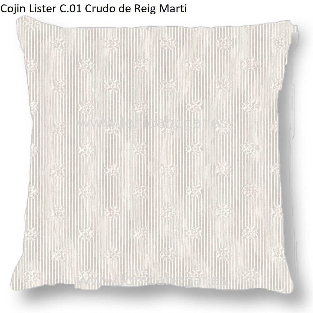 Cojín LISTER CT de Reig Marti Crudo Cojín 55x55