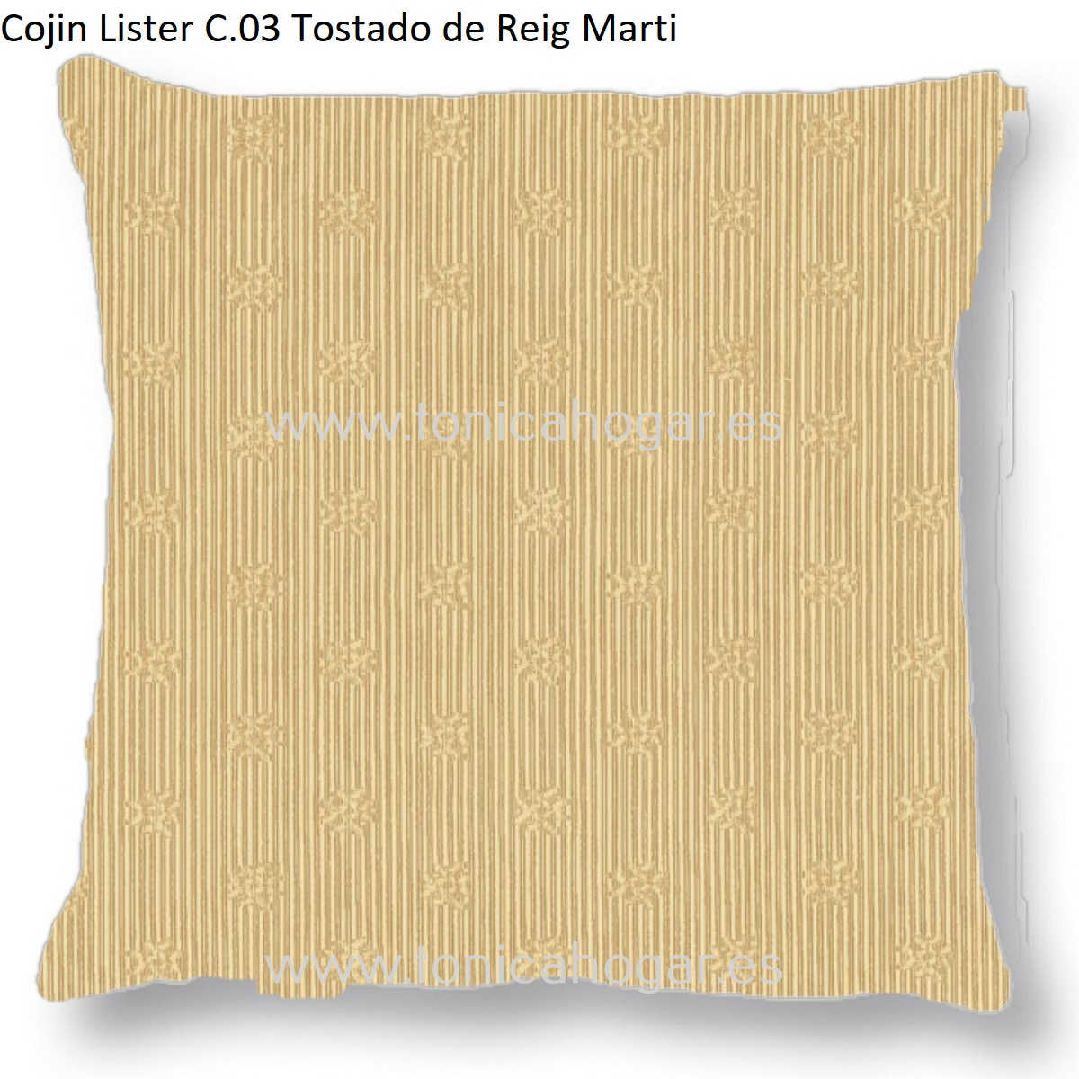 Cojín LISTER CT de Reig Marti Tostado Cojín 55x55