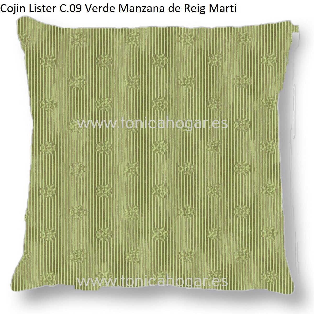 Cojín LISTER CT de Reig Marti Verde Manzana Cojín 55x55