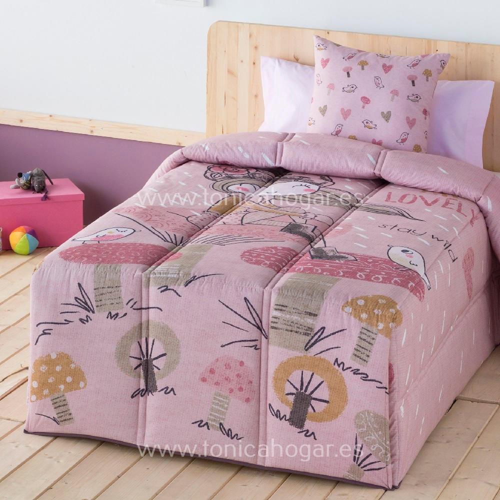 Edredón Conforter LOVELY de SANSA Rosa 090 Rosa 105