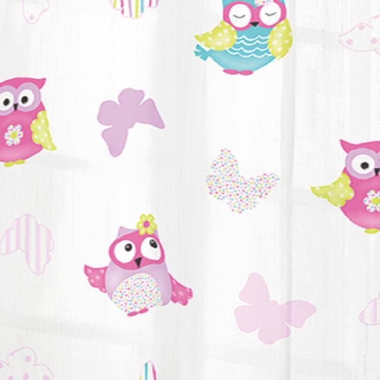 Metraje visillo estampado lalavol mt de reig marti for Telas para cortinas infantiles